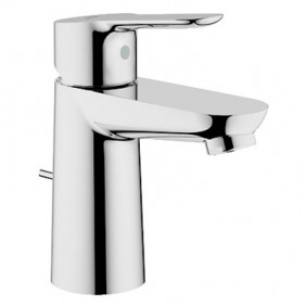Single-control sink mixer with spring and removable shower